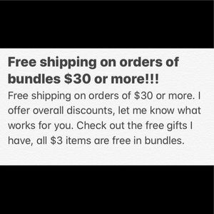 Free shipping $30 or more